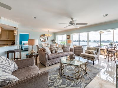 Photo for Gorgeous Condo on the Moorings Bay with Breathtaking Views from Every Room!