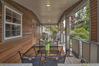 Sip your morning coffee amidst the fresh dewy air on the porch.
