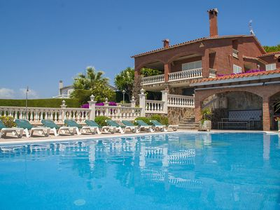 Photo for Club Villamar - Beautiful villa for 12 people with private pool, garden, tennis court and nice se...