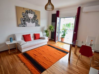 Photo for Two bedroom apartment in the heart of Athens with Acropolis views!