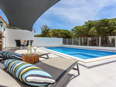 Photo for Dunas Luxury Villa: private heated pool w/ kids section & fence, walk to beach