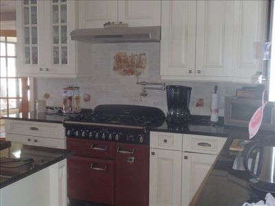 updated kitchen with Aga stove
