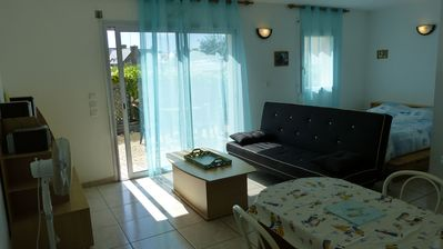 Photo for Very nice studio with terrace at 2 steps from the beach - Damgan - (D)