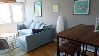 Photo for Great Beach Biarritz, all on foot, parking