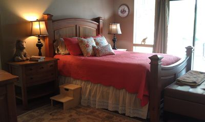 Photo for Beautiful Master Suite at B&B on riverfront farm