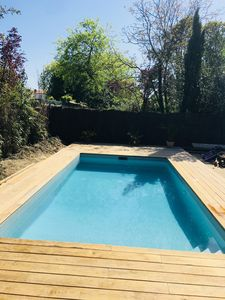 Photo for Bordeaux - Renovated house, large garden, swimming pool, parking in the yard