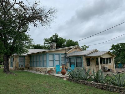 Photo for Vintage rambling 30's stone house on huge bluff rare private river view/access!