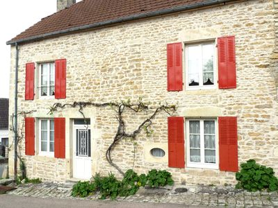 Photo for Chez Françoise, cottage all season, possibility of 8 people, VEZELAY region 89