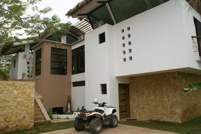 Entrance to Casa Divina. The ATV is available to rent separately.