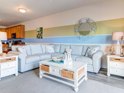 Photo for Spacious condo w/ balcony & partial bay views - walk to the beach & Boardwalk!