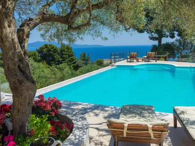 "Photo for Luxury private ""Villa Hermes"" with large pool and stunning views"