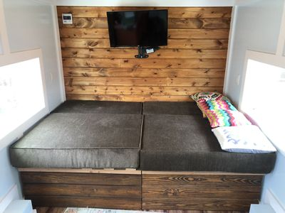 Photo for XL Large Tiny Home on Wheels, Sleeps 6 +, Fast Internet, Yoga Mats, Patio Area,