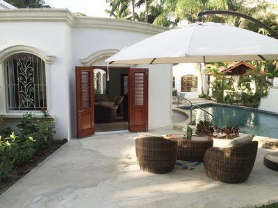 Photo for Beautiful Large Barbados Villa 4 bdrms w Beach Pool A/C Wi-Fi - Villa Des Anges