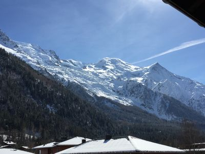 Photo for Center of Chamonix, Mont Blanc chain view