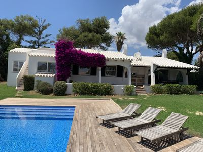Photo for Charming villa, private garden, pool & magnificent sea views. New out for rental
