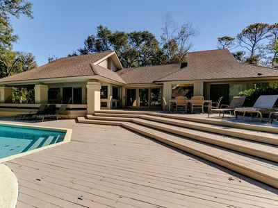 Photo for 6 Flotilla - 5 BR/4.5 BA | 2nd Row Private Home in Palmetto Dunes! Steps to the beach! Pool!