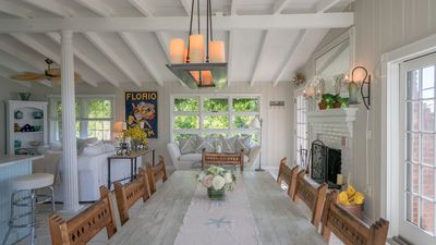 Photo for Cottage-Chic Bayfront Home Overlooking Peconic Bay, Beach Access, Outdoor Entertaining