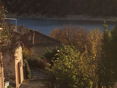 Photo for At the heart of Provence - The lake of Holy Cross at the feet of the house