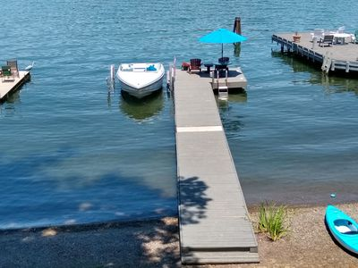 View of dock from porch
