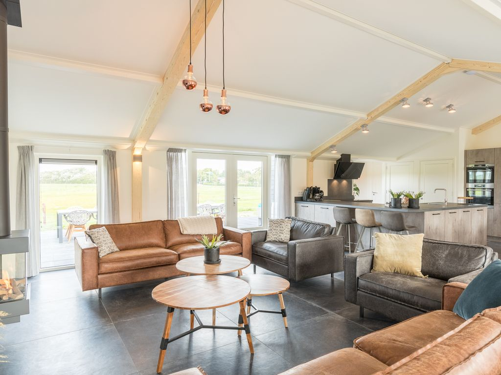 Luxurious Bungalow With 6 Bedrooms And Bathrooms On Ameland Hollum