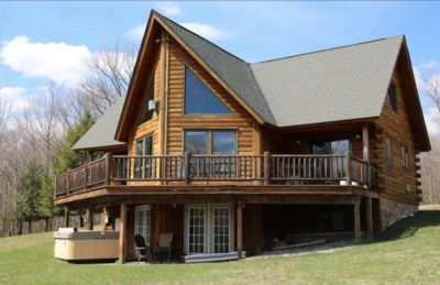 Photo for Stunning Catskills Cabin Getaway, facing BelleAyre