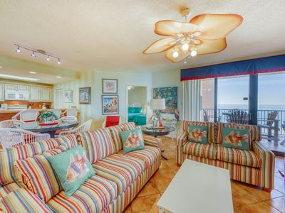 Photo for Gulf front condo w/shared gym, indoor & outdoor pools, & hot tub and gulf views!