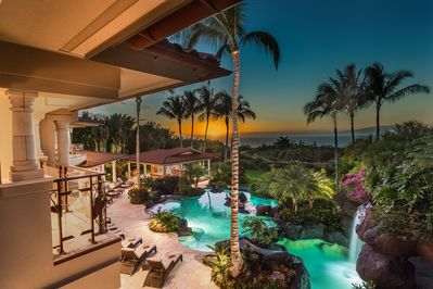 Sunset Over the Ocean View Pools - Stunning!
