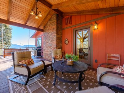 Photo for 4BR Mountain Home with Long Range Views, Hot Tub, Game Room, Playhouse, and Outdoor Living Room!