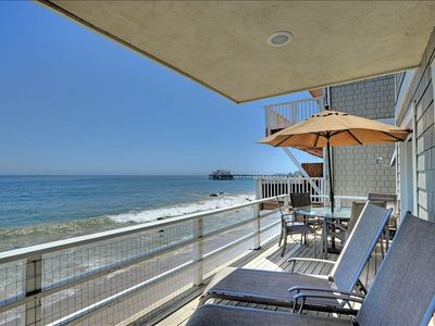 Photo for Luxurious Oceanfront Retreat on Dry Sandy Carbon Beach - Dolphin