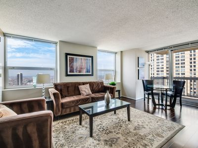 Photo for Luxury 43rd-floor suite at Grand Plaza near Magnificent Mile w/ pool, gym, more!