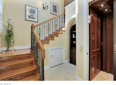 Front entry and in-home elevator