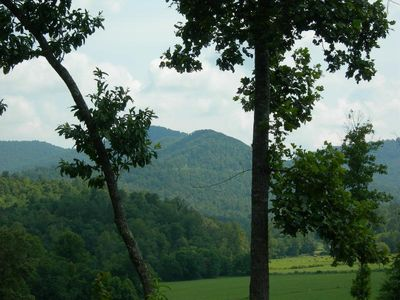 Great meadow and mountain views await