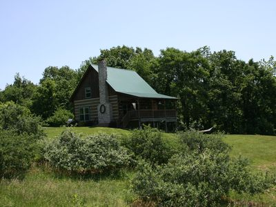 Rest & relax in a fully furnished cabin on a working orchard and vineyard.