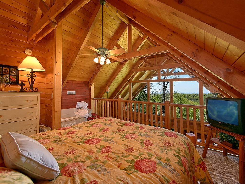 Panoramic View Of Smokies 1 Bedroom Cabin Between Gatlinburg And Pigeon Forge Gatlinburg