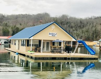 Photo for Anchors Away - Beautiful Floating Home on Norris Lake-5BR incl/loft 2BA slps 15