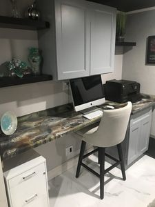Workstation.  Computer and printer are not included.