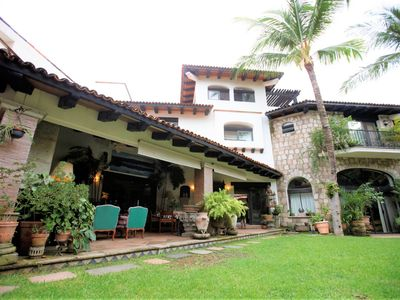 Photo for New Listing! Luxurious Mexican Hacienda w/ Pool & Garden- Steps from the beach!