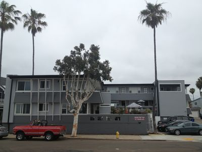 Our 14 unit complex is the last building on So. Mission Blvd's southeast corner.
