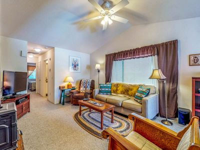 Photo for Comfy condo w/ mountain views - near golf, slopes, Old Town, & trailheads