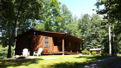 Photo for Couples Getaway! Cabin w/king bed and outdoor Hot Tub in WNC Mountains