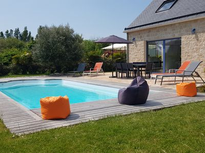 Photo for House with heated pool 300 minutes from the beaches of Saint Jacques