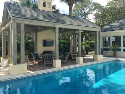 Photo for SEA ISLAND Beach Front with Pool.  Ocean Views from Almost All Rooms.