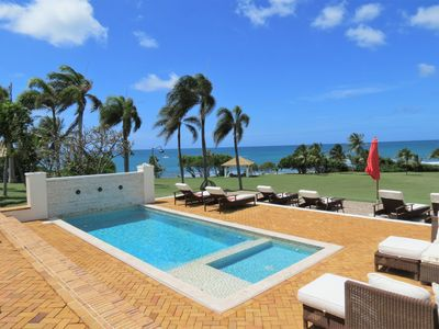 Photo for Elegant Shoy Beachfront Villa, 4 Bedroom Suites Private Pool, Caribbean Sea View