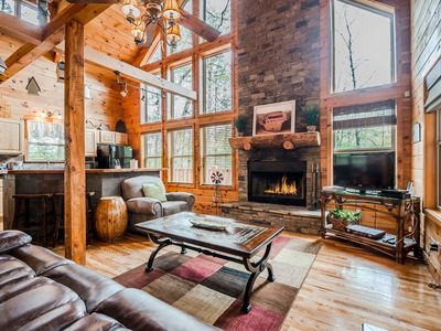 Photo for Secluded Cabin | 2BR 3 BA | Sauna | Hot Tub | Pool Table | Wrap Around Deck