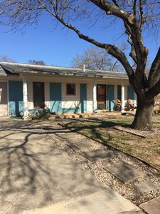 Photo for SXSW rental. Multiple bus stops on street, short cab ride to downtown