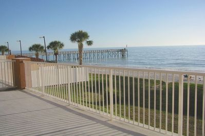 View off the balcony overlooking the Redington Pier.