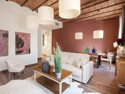 Photo for BCN Rambla Catalunya- Central apartment with 3 rooms per month. + 32 nights.