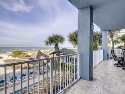 Photo for Gulf front large four bedroom four full bathroom condo with plenty of amenities
