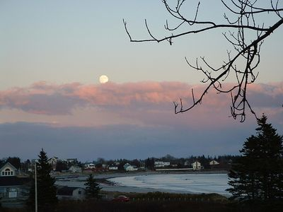 Moonrise over Lockeport; as seen from the house. Sweet dreams!