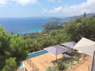 Photo for Contemporary villa, sea view, comfort, 5 bedrooms., 11 pers., Pool 3,6x10,6m